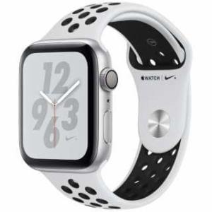 アップル(Apple) Apple Watch Nike+ Series 4(GPSモデル)- 44mm シルバーアルミニウムケースとピュアプラチナム/ブラックNikeスポーツバンド MU6K2J/A