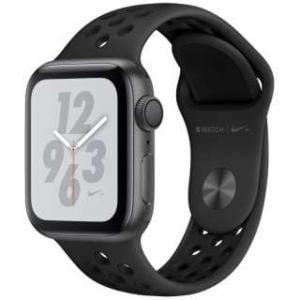 アップル(Apple) Apple Watch Nike+ Series 4(GPSモデル)- 40mm スペースグレイアルミニウムケースとアンスラサイト/ブラックNikeスポーツバンド MU6J2J/A