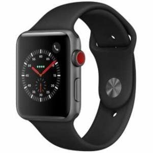 アップル(Apple)  MTH22J/A Apple Watch Series 3(GPS + Cellularモデル)- 42mmスペースグレイアルミニウムケースとブラックスポーツバンド