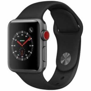 アップル(Apple) MTGP2J/A Apple Watch Series 3(GPS + Cellularモデル)- 38mmスペースグレイアルミニウムケースとブラックスポーツバンド