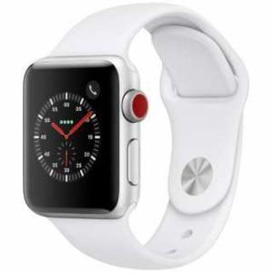 アップル(Apple) MTGN2J/A Apple Watch Series 3(GPS + Cellularモデル)- 38mmシルバーアルミニウムケースとホワイトスポーツバンド