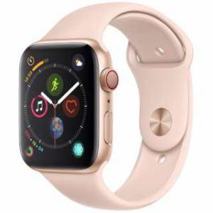 アップル(Apple) Apple Watch Series 4(GPS + Cellularモデル)- 44mm ゴールドアルミニウムケースとピンクサンドスポーツバンド MTVW2J/A
