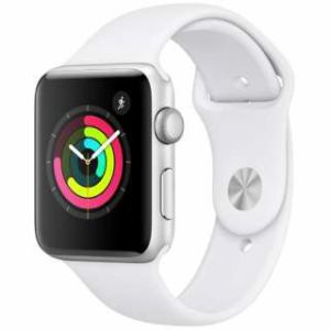 アップル(Apple) MTF22J/A Apple Watch Series 3(GPSモデル)- 42mmシルバーアルミニウムケースとホワイトスポーツバンド