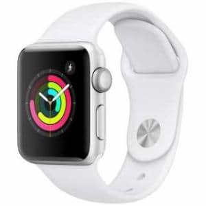 アップル(Apple) MTEY2J/A Apple Watch Series 3(GPSモデル)- 38mmシルバーアルミニウムケースとホワイトスポーツバンド