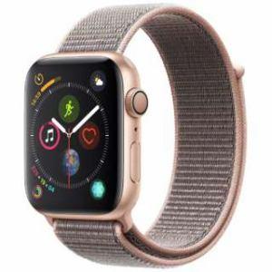 アップル(Apple) Apple Watch Series 4(GPSモデル)- 44mm ゴールドアルミニウムケースとピンクサンドスポーツループ MU6G2J/A