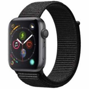 アップル(Apple) Apple Watch Series 4(GPSモデル)- 44mm スペースグレイアルミニウムケースとブラックスポーツループ MU6E2J/A