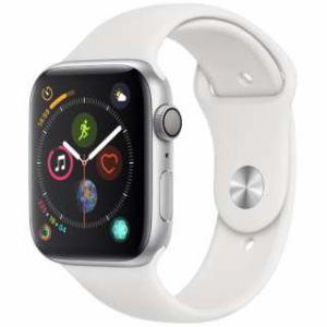 アップル(Apple) Apple Watch Series 4(GPSモデル)- 44mm シルバーアルミニウムケースとホワイトスポーツバンド MU6A2J/A