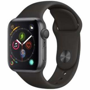 アップル(Apple) Apple Watch Series 4(GPSモデル)- 40mm スペースグレイアルミニウムケースとブラックスポーツバンド MU662J/A