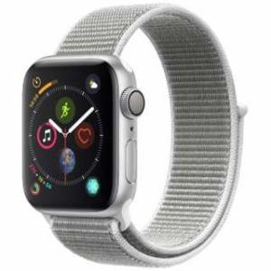 アップル(Apple) Apple Watch Series 4(GPSモデル)- 40mm シルバーアルミニウムケースとシーシェルスポーツループ MU652J/A