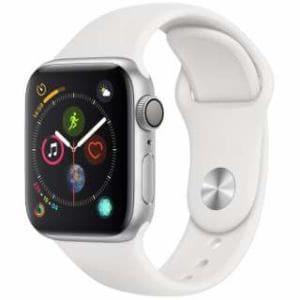 アップル(Apple) Apple Watch Series 4(GPSモデル)- 40mm シルバーアルミニウムケースとホワイトスポーツバンド MU642J/A