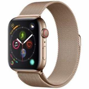 アップル(Apple) Apple Watch Series 4(GPS + Cellularモデル)- 44mm ゴールドステンレススチールケースとゴールドミラネーゼループ MTX52J/A