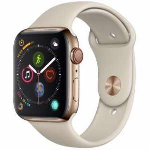 アップル(Apple) Apple Watch Series 4(GPS + Cellularモデル)- 44mm ゴールドステンレススチールケースとストーンスポーツバンド MTX42J/A