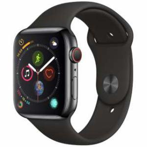 アップル(Apple) Apple Watch Series 4(GPS + Cellularモデル)- 44mm スペースブラックステンレススチールケースとブラックスポーツバンド MTX22J/A