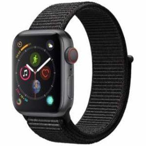 アップル(Apple) Apple Watch Series 4(GPS + Cellularモデル)- 40mm スペースグレイアルミニウムケースとブラックスポーツループ MTVF2J/A