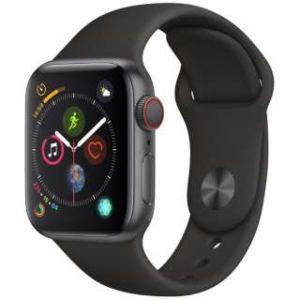 アップル(Apple) Apple Watch Series 4(GPS + Cellularモデル)- 40mm スペースグレイアルミニウムケースとブラックスポーツバンド MTVD2J/A