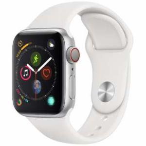 アップル(Apple) Apple Watch Series 4(GPS + Cellularモデル)- 40mm シルバーアルミニウムケースとホワイトスポーツバンド MTVA2J/A