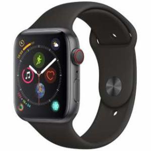 アップル(Apple) Apple Watch Series 4(GPS + Cellularモデル)- 44mm スペースグレイアルミニウムケースとブラックスポーツバンド MTVU2J/A