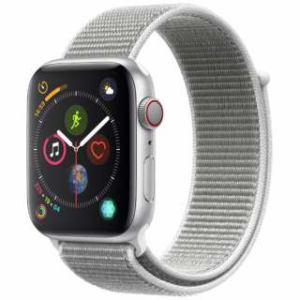 アップル(Apple) Apple Watch Series 4(GPS + Cellularモデル)- 44mm シルバーアルミニウムケースとシーシェルスポーツループ MTVT2J/A