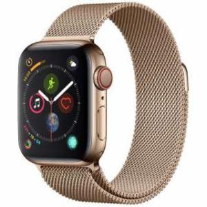 アップル(Apple) Apple Watch Series 4(GPS + Cellularモデル)- 40mm ゴールドステンレススチールケースとゴールドミラネーゼループ MTVQ2J/A