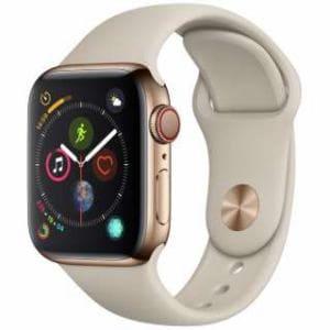 アップル(Apple) Apple Watch Series 4(GPS + Cellularモデル)- 40mm ゴールドステンレススチールケースとストーンスポーツバンド MTVN2J/A