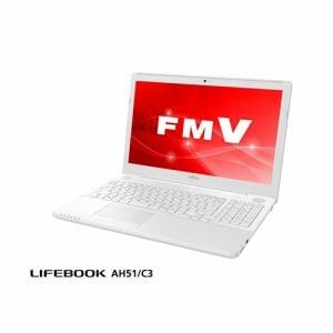 富士通 FMVA51C3W2 ノートパソコン FMV LIFEBOOK  プレミアムホワイト