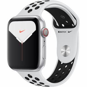 アップル(Apple) MX3E2J/A Apple Watch Nike Series 5(GPS + Cellularモデル)- 44mmシルバーアルミニウムケースとピュアプラチナム/ブラックNikeスポーツバンド - S/M & M/L