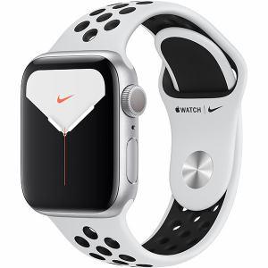 アップル(Apple) MX3R2J/A Apple Watch Nike Series 5(GPSモデル)- 40mmシルバーアルミニウムケースとピュアプラチナム/ブラックNikeスポーツバンド - S/M & M/L