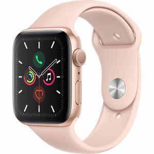 アップル(Apple) MWVE2J/A Apple Watch Series 5(GPSモデル)- 44mmゴールドアルミニウムケースとピンクサンドスポーツバンド - S/M & M/L