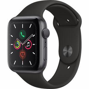アップル(Apple) MWVF2J/A Apple Watch Series 5(GPSモデル)- 44mmスペースグレイアルミニウムケースとブラックスポーツバンド - S/M & M/L