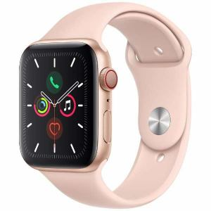 アップル(Apple) MWWD2J/A Apple Watch Series 5(GPS + Cellularモデル)- 44mmゴールドアルミニウムケースとピンクサンドスポーツバンド - S/M & M/L