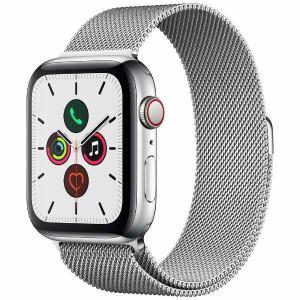 アップル(Apple) MWWG2J/A Apple Watch Series 5(GPS + Cellularモデル)- 44mmステンレススチールケースとミラネーゼループ