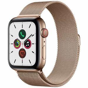 アップル(Apple) MWWJ2J/A Apple Watch Series 5(GPS + Cellularモデル)- 44mmゴールドステンレススチールケースとゴールドミラネーゼループ