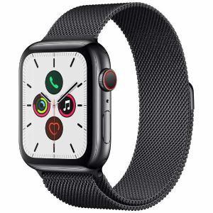 アップル(Apple) MWWL2J/A Apple Watch Series 5(GPS + Cellularモデル)- 44mmスペースブラックステンレススチールケースとスペースブラックミラネーゼループ