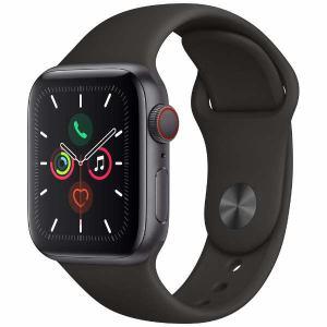 アップル(Apple) MWX32J/A Apple Watch Series 5(GPS + Cellularモデル)- 40mmスペースグレイアルミニウムケースとブラックスポーツバンド - S/M & M/L