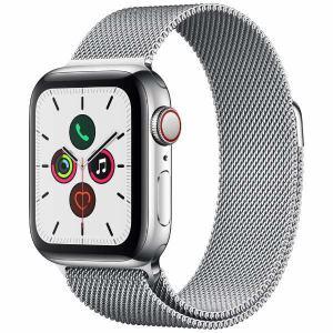 アップル(Apple) MWX52J/A Apple Watch Series 5(GPS + Cellularモデル)- 40mmステンレススチールケースとミラネーゼループ