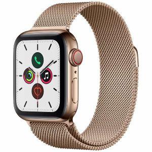 アップル(Apple) MWX72J/A Apple Watch Series 5(GPS + Cellularモデル)- 40mmゴールドステンレススチールケースとゴールドミラネーゼループ