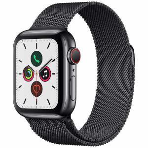 アップル(Apple) MWX92J/A Apple Watch Series 5(GPS + Cellularモデル)- 40mmスペースブラックステンレススチールケースとスペースブラックミラネーゼループ