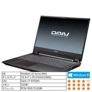 マウスコンピューター PCYNVI97G206H19L クリエイターノートパソコン DAIV  ブラック