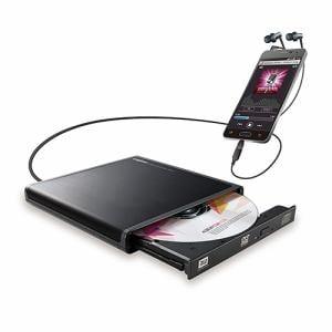 ロジテック LDR-PMJ8U2RBK Android用CD録音ドライブ BK