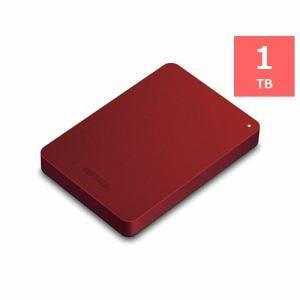 バッファロー HD-PNF1.0U3-BRE ミニステーション ターボPC EX2 Plus対応 耐衝撃&USB3.1(Gen1)/USB3.0用ポータブルHDD レッド 1TB