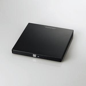エレコム LDR-PVA8UCLBK Type-C搭載ポータブルDVDドライブ書込 ブラック