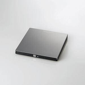 エレコム LDR-PVA8UCVGY Type-C搭載ポータブルDVDドライブ再生編集書込 グレー