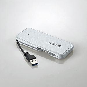 エレコム ESD-EC0120GWH ケーブル収納型外付けポータブルSSD 120GB ホワイト