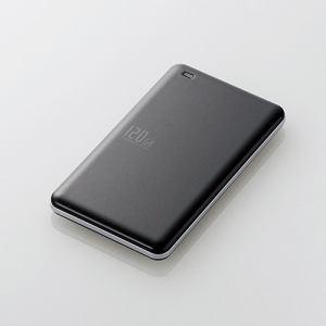 エレコム ESD-ED0120GBK USB3.1(Gen1)対応外付けポータブルSSD 120GB ブラック
