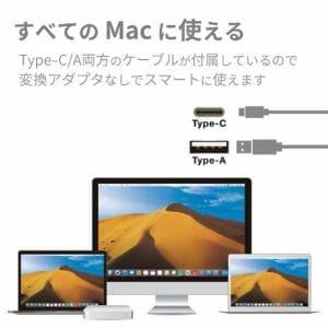 ロジテック LDR-PVB8U3MSV Mac用ポータブルDVDドライブ シルバー