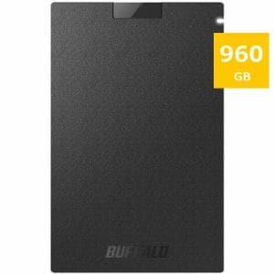 バッファロー SSD-PG960U3-BA 耐振動・耐衝撃 USB3.1(Gen1)対応 ポータブルSSD 960GB ブラック