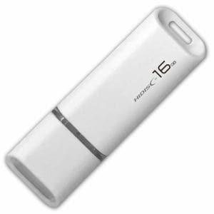 磁気研究所 HDUF113C16G2 HIDISC USB 2.0 フラッシュドライブ 16GB 白 キャップ式