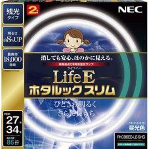 NEC FHC86ED-LE-SHG 27形+34形丸形スリム蛍光灯 昼光色 LifeE ホタルックスリム