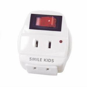 旭電機化成 ASW-002 雷ガード付2口節電コンセント 「SMILE KIDS(スマイルキッズ)」