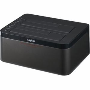 ロジテック LGB-2BDPU3ES エラースキップ搭載 2BAY Duplicator HDD/SSDスタンド